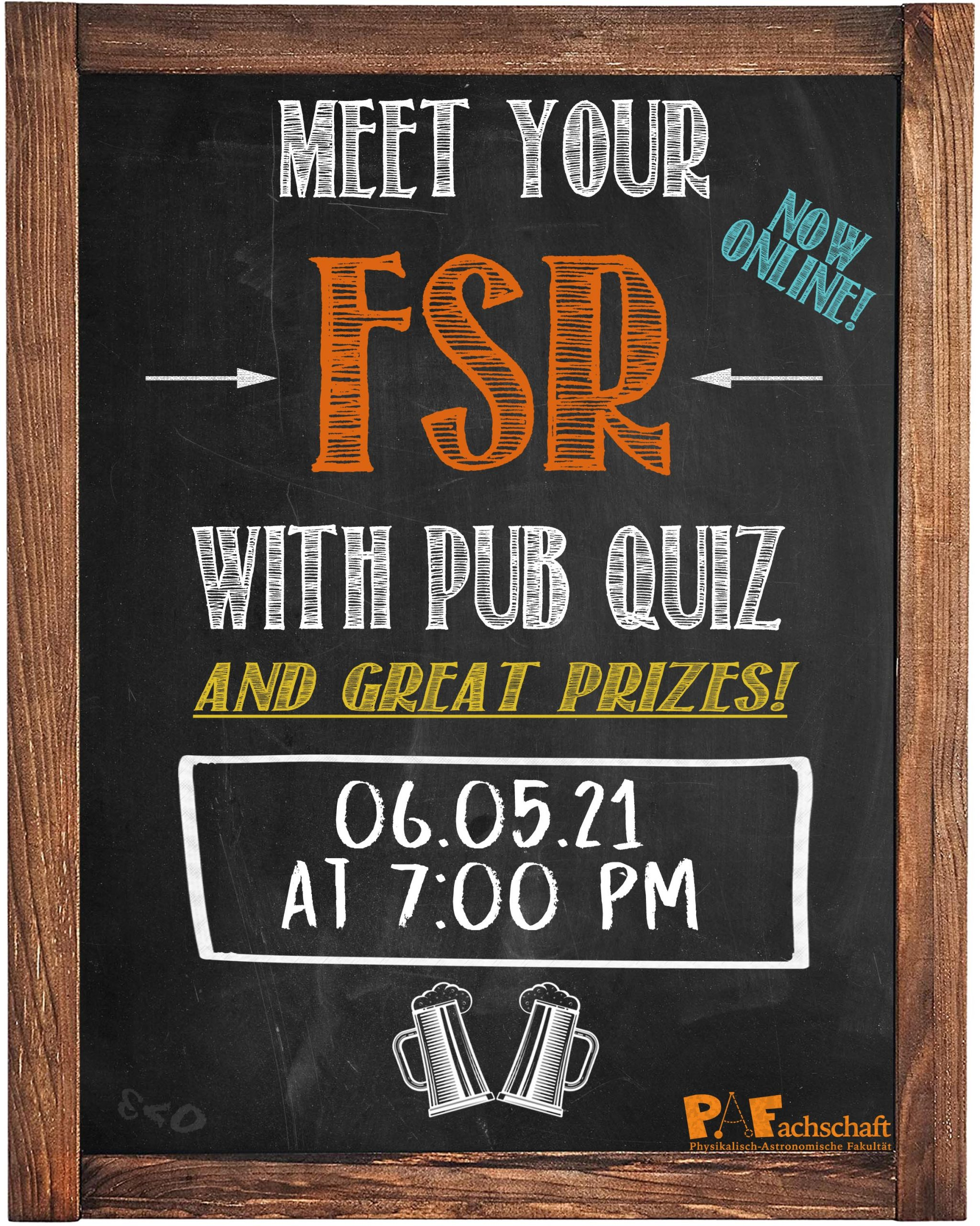 Meet Your FSR Pub Quiz – 06.05.21 07:00 pm