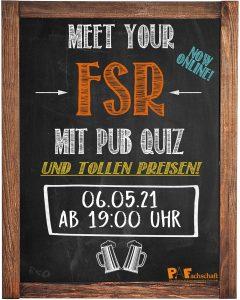 Meet Your FSR Pub-Quiz – 06.05.21 19:00Uhr
