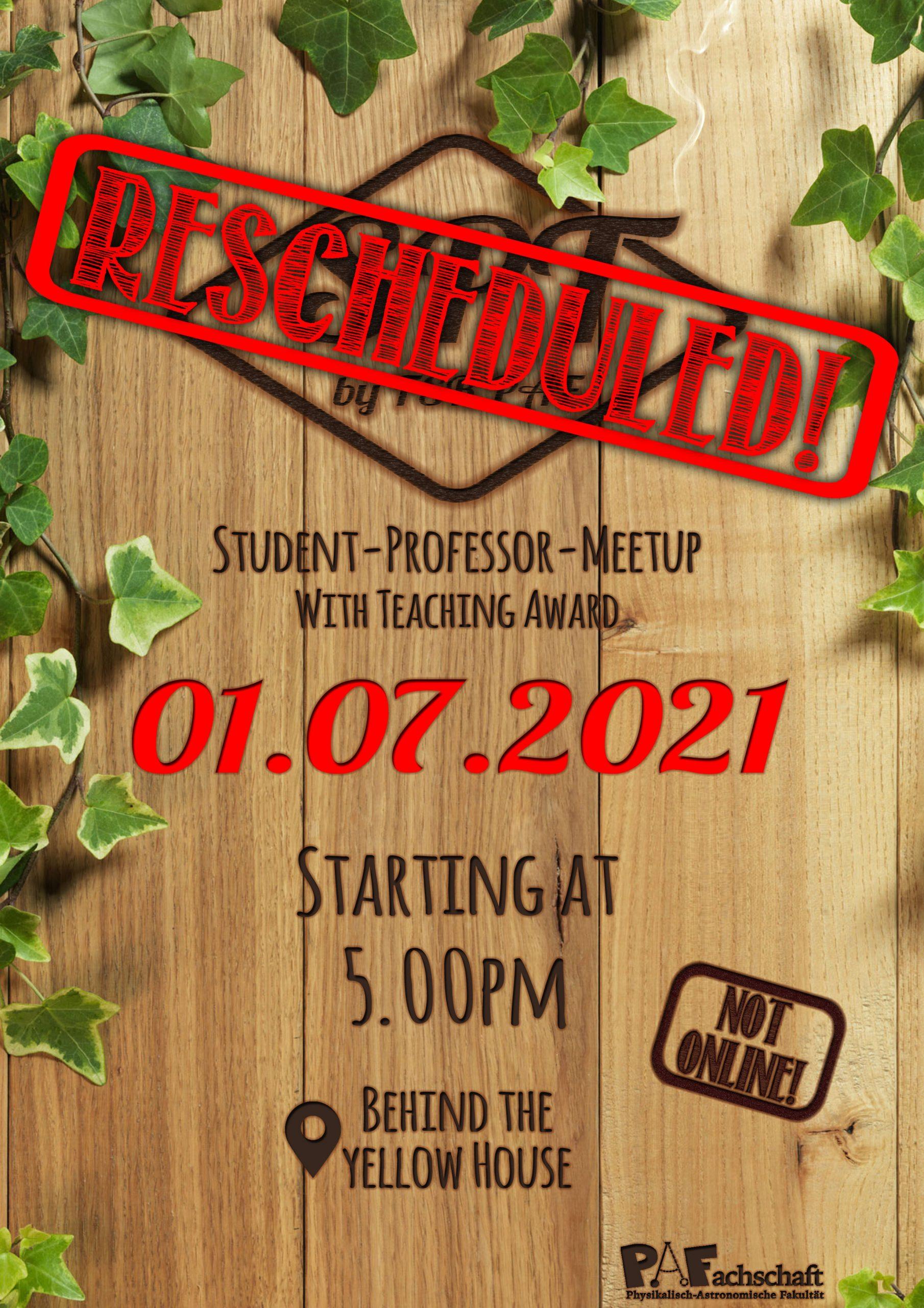Student Professor MeetUp – RESCHEDULED! – 1st July