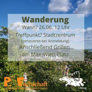 Read more about the article Wanderung mit dem FSR Chemie – 26. Juni 12:00 Uhr