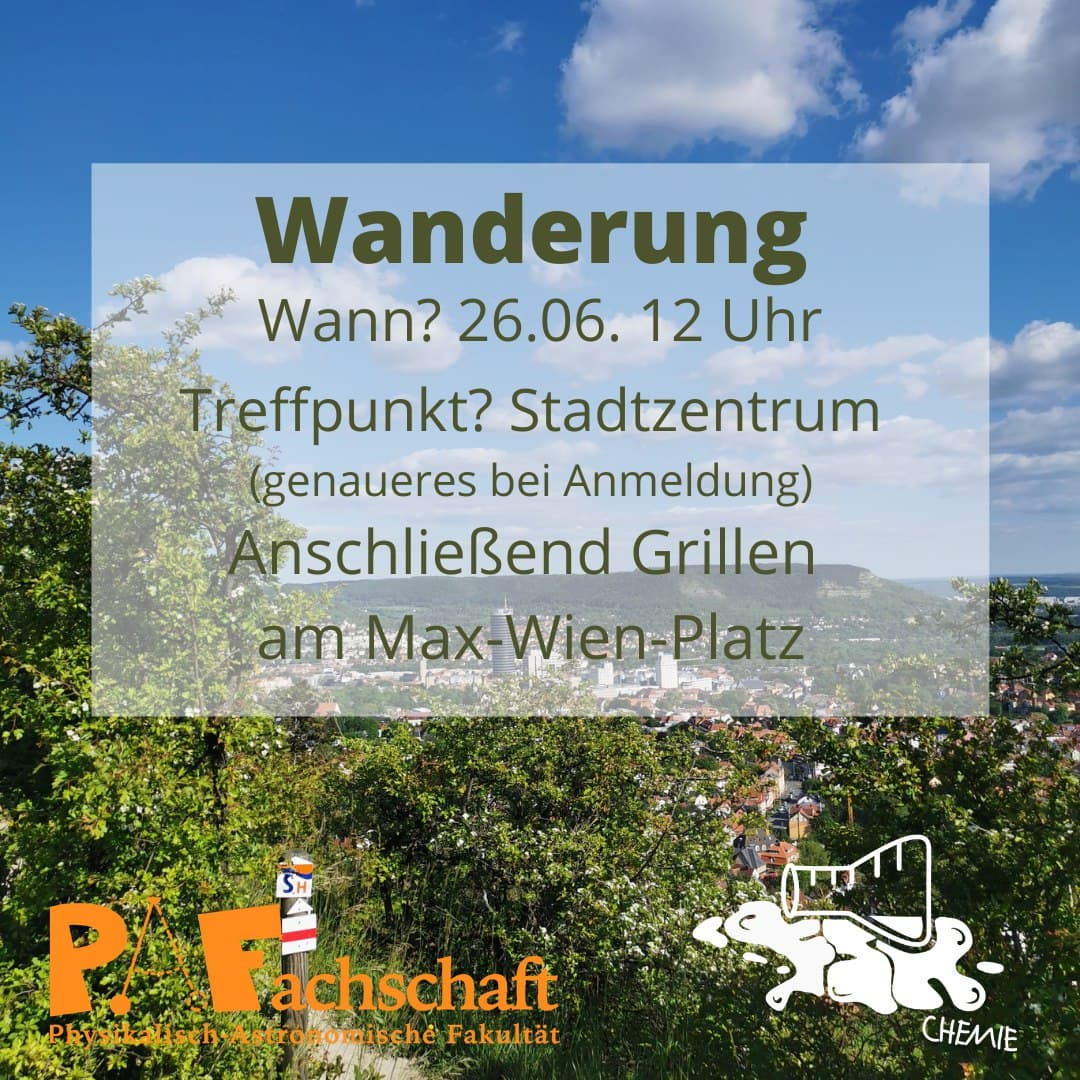 You are currently viewing Wanderung mit dem FSR Chemie – 26. Juni 12:00 Uhr